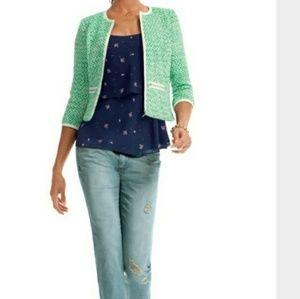 CAbi Jackets & Coats - CABI #726 Clover Tweed Cropped Blazer Jacket